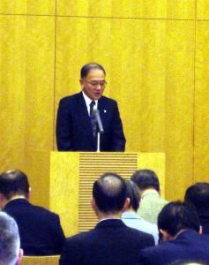 植木会長の開会挨拶